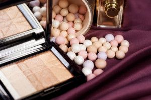 Make-up.Makeup accessories background